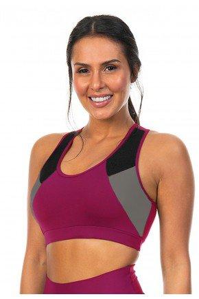 t0021 12 01 top esportivo linha esportiva fitness plus size rosa vinho bordo bojo fixo ilhas rio moderno minimalista